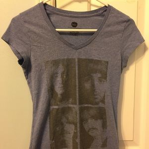 The Beatles V-Neck Tee Size Small